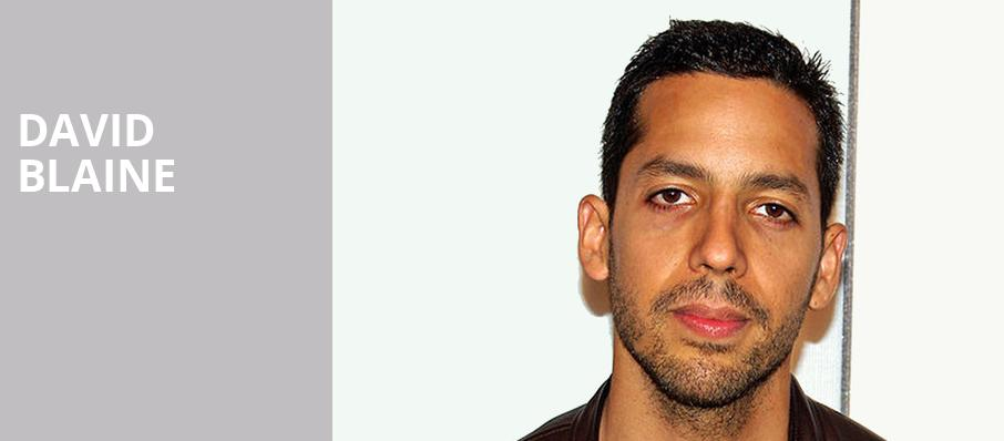 David Blaine, Ziff Opera House, Miami